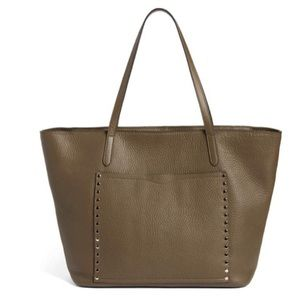 Rebecca Minkoff Unlined Front Pocket Leather Tote